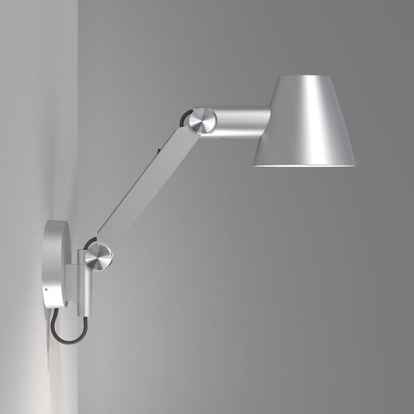 ... Cult E27 Adjustable Arm Wall Light - Grey - Side Angle & Nordlux Cult Adjustable Arm Wall Light - Grey