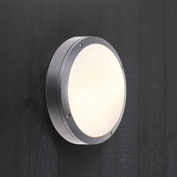 Nordlux desi 28 outdoor e27 flush light grey desi 28 outdoor flush light grey installed aloadofball Images