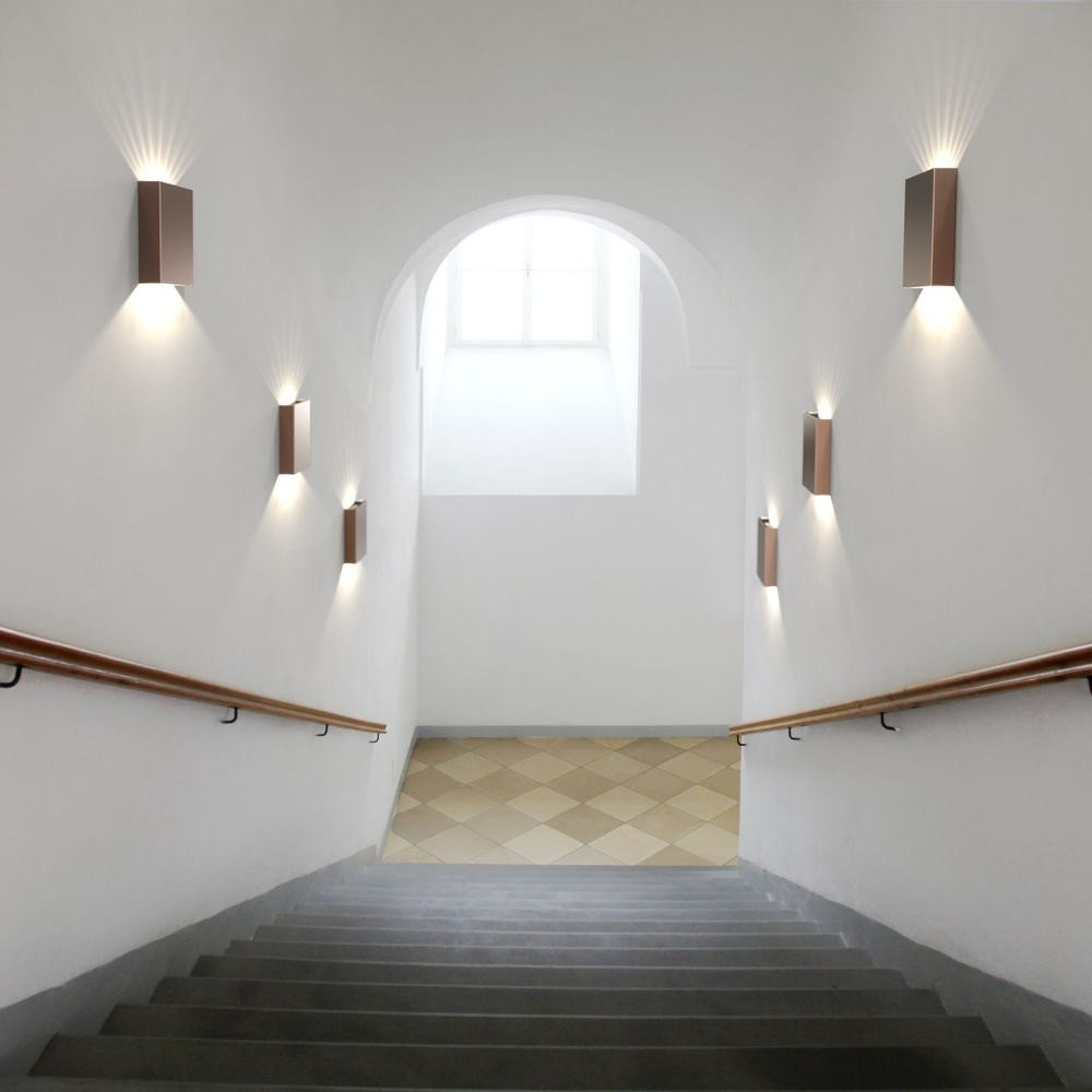Stairway Lighting Fixtures: DFTP Nordlux Fold Outdoor LED Wall Light