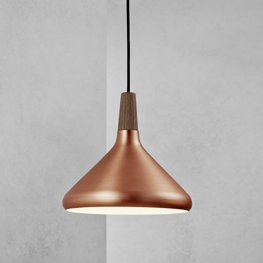 Nordlux float 27 ceiling pendant light brushed copper pendant float 27 ceiling pendant light brushed copper installed aloadofball Gallery
