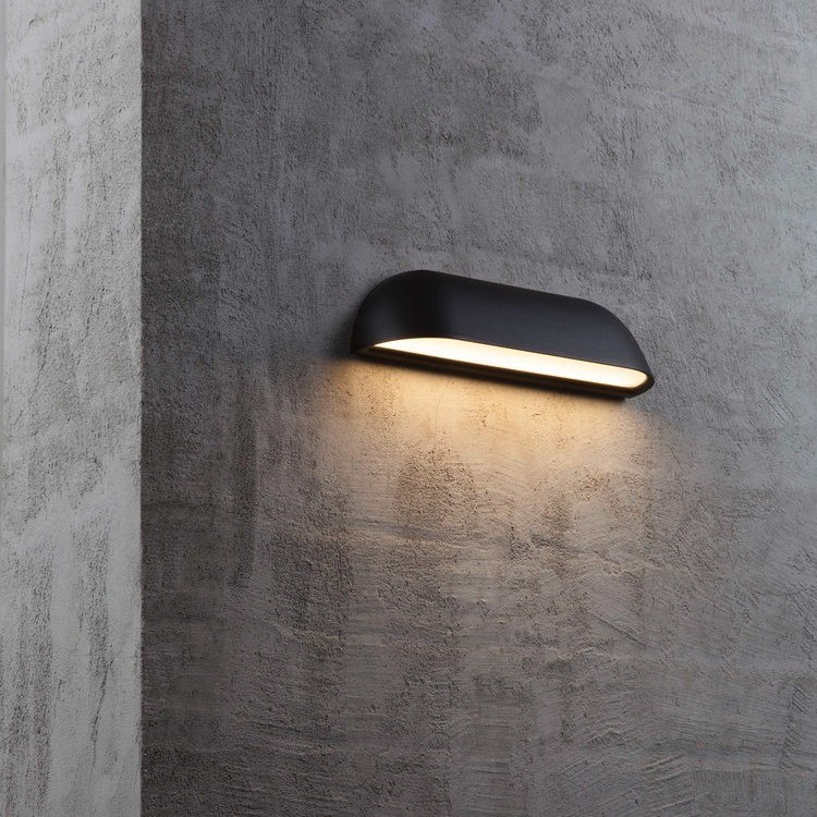 Dftp Nordlux Front 26 Outdoor Led Wall Light Black