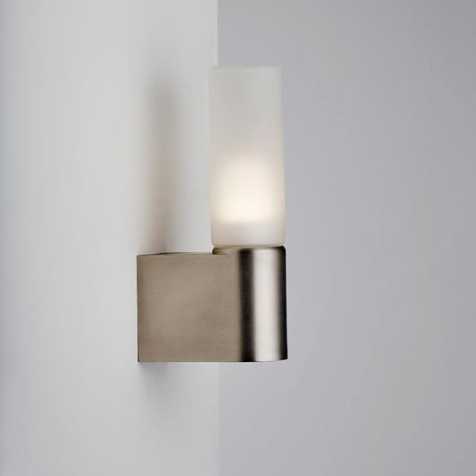 Nordlux Ip S1 Semi Flush Wall Light Brushed Steel