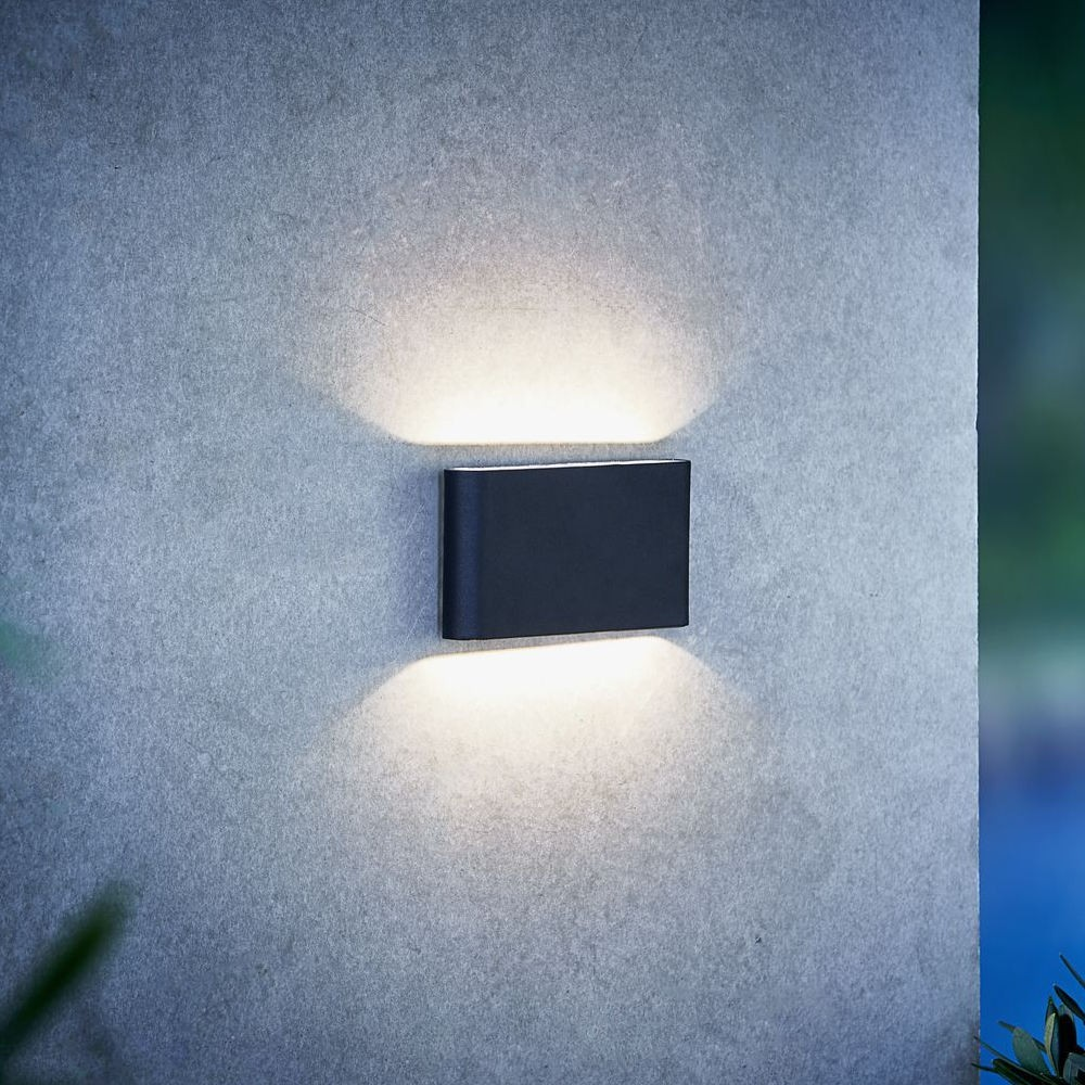 Nordlux Kinver Outdoor Led Wall Light Black