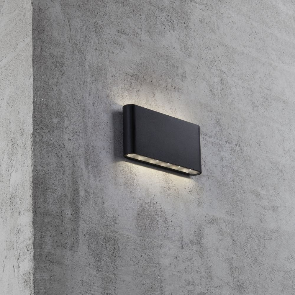 Nordlux kinver outdoor led wall light black nordlux kinver wall light black 84181003 mozeypictures Gallery