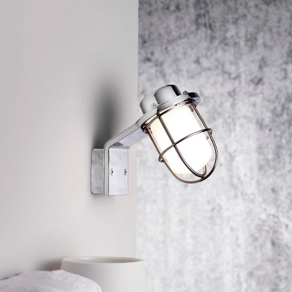 External Wall Lights Chrome : Nordlux Marina IP44 Wall Light - Chrome