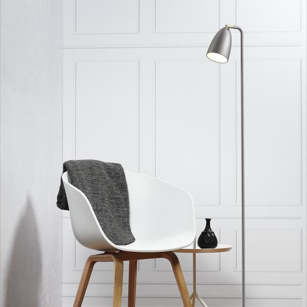 Nordlux nexus 10 led floor lamp brushed steel nordlux nexus 10 led floor lamp brushed steel reading light aloadofball Image collections