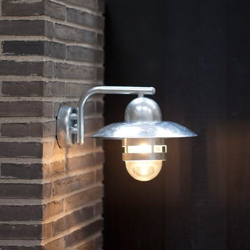 Nordlux Nibe E27 Outdoor Wall Light - Galvanised