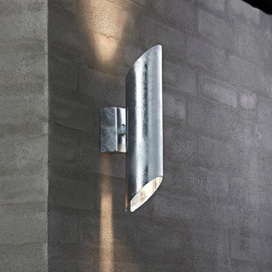 Nordlux Pin Gu10 Outdoor Wall Light Galvanised Steel