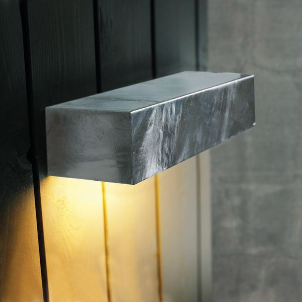 Nordlux square maxi 14w outdoor wall light galvanised steel nordlux square maxi wall light galvanised installed aloadofball Gallery