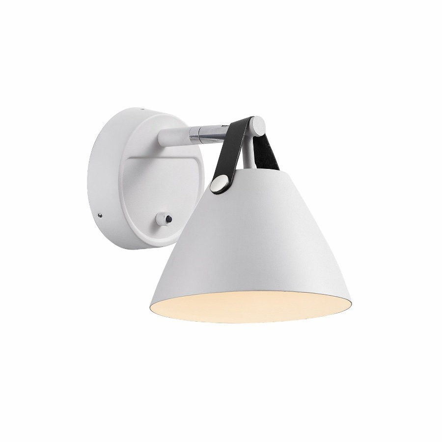Wall Lamps White : DFTP Nordlux Strap 15 Wall Light - White
