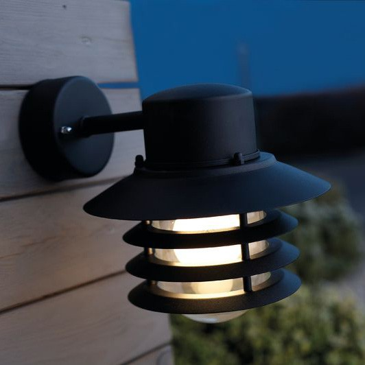Nordlux vejers down outdoor wall light black nordlux vejers outdoor wall light down black lantern aloadofball Image collections