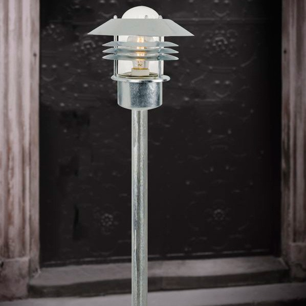 Nordlux vejers garden post light galvanised steel nordlux vejers e27 garden post light galvanised steel installed aloadofball Image collections