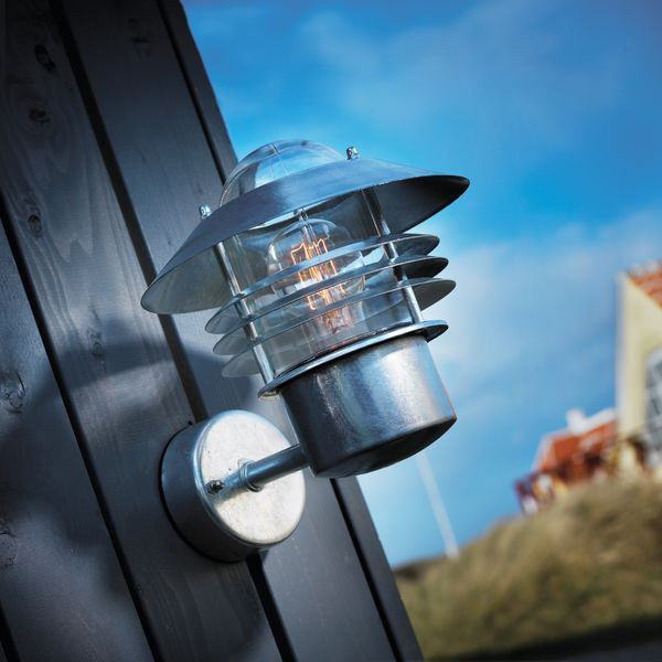 Nordlux Vejers Up Outdoor Wall Light Galvanised Steel