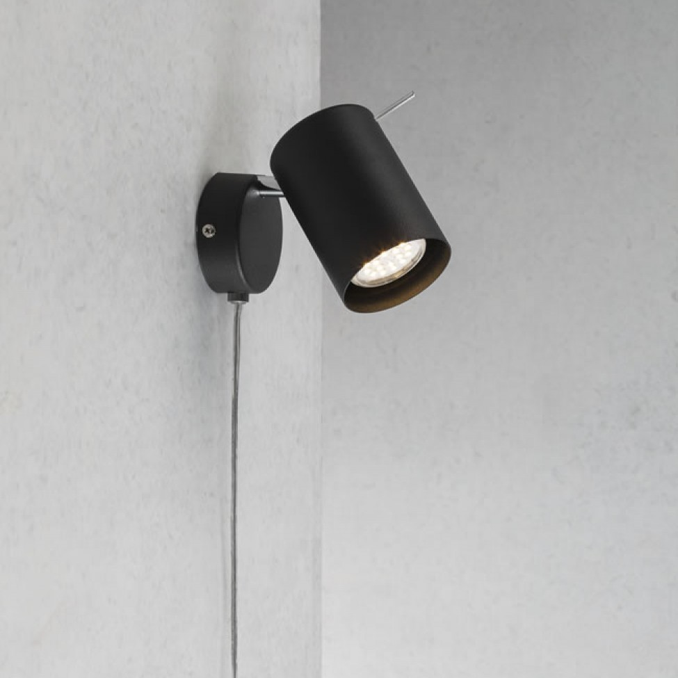 Nordlux prime wall spotlight gu10 black nordlux prime wall spotlight black interior aloadofball Image collections