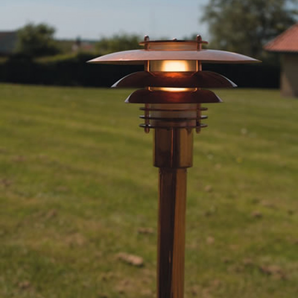Nordlux phoenix mini garden post light copper nordlux phoenix mini garden post light copper installed aloadofball Image collections