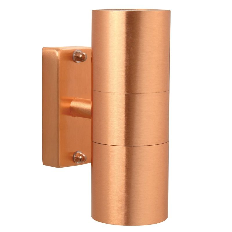 Nordlux Tin Double Outdoor Wall Light Copper