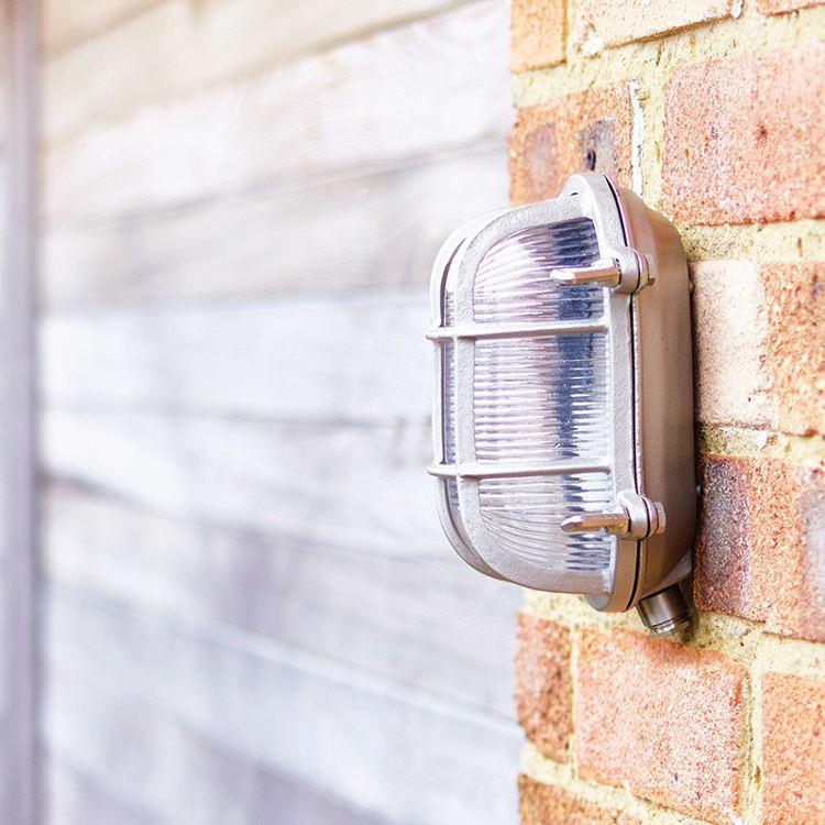 Uber lamp looe outdoor wall light nickel uber lamp looe industrial outdoor wall light nickel aloadofball Image collections
