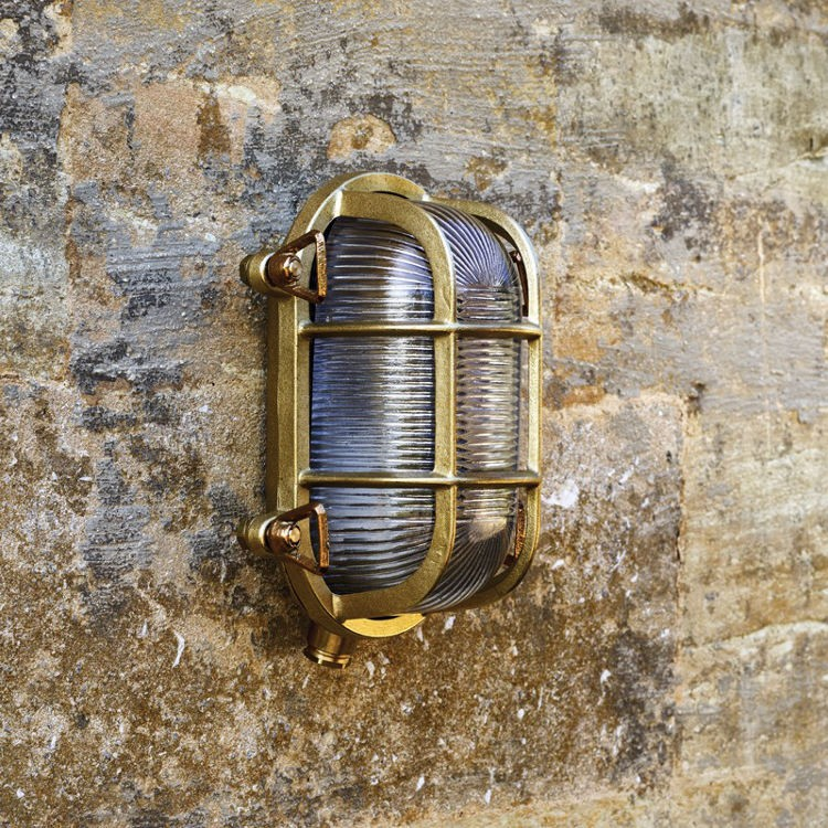 Uber Lamp Looe Outdoor Wall Light - Brass
